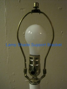 Mounted Lamp Shade Support Bracket